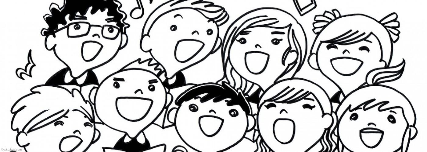 Comic mit verschiedenen Sängerinnen und Sänger